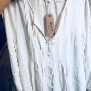 Levi white Button Up